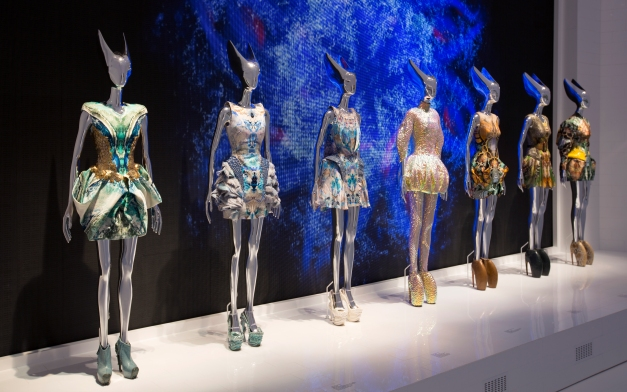 Installation view of  'Platos Atlantis' gallery. Alexander McQueen Savage Beauty at the V&A, 2015. ©Victoria and Albert Museum, London